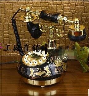 【王哥】超人氣!正品陶瓷複古電話機 仿古電話機 黑色經典複古電話新房送禮 民國時期復古電話