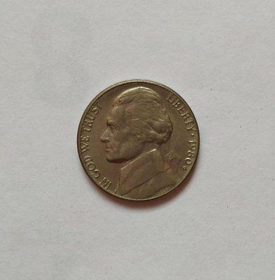 America美國硬幣1980年Five Cents-No.9