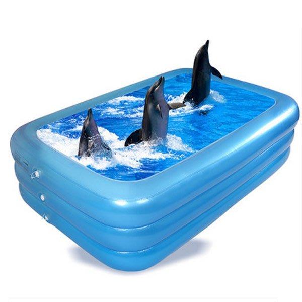 5Cgo【批發】含稅會員有優惠 520421969643  成人泳池嬰兒寶寶海洋球池充氣遊泳池家庭加厚充氣游泳池釣魚池