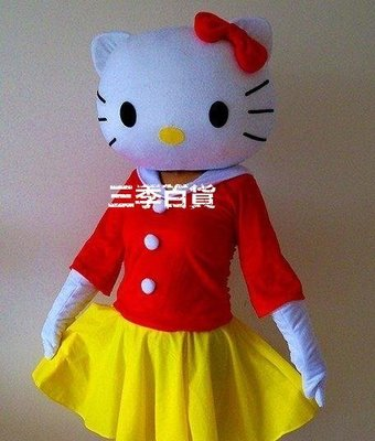 三季Hello Kitty人偶服裝kt貓卡通服裝凱蒂貓服裝hello kitty貓服飾123❖791