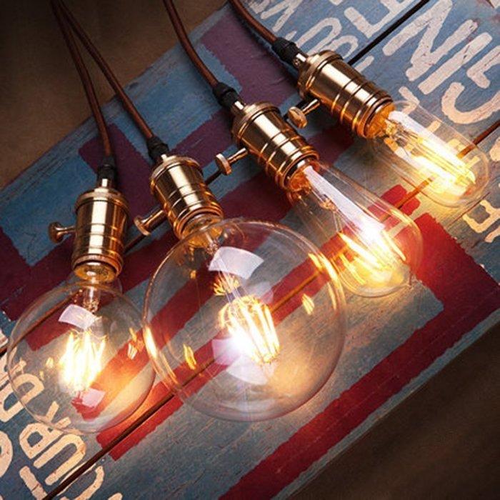 尼克卡樂斯~LED仿鎢絲愛迪生燈泡 復古燈泡 工業風燈泡 G60/G80/G95/G125