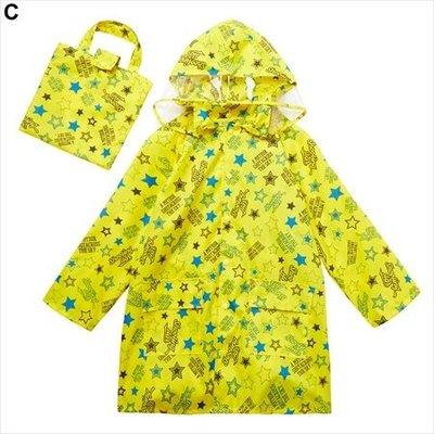 全新現貨日本進口nissen男女童可愛星星雨衣一件組(附收納袋)---115~125.125~135公分