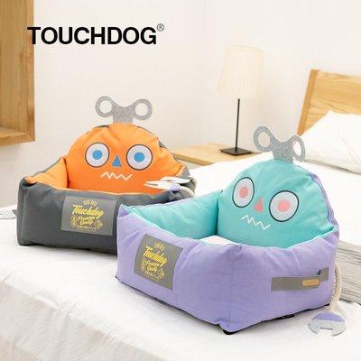 Mili寵物用品舘Touchdog它它2021秋冬新款寵物窩墊機器人可全拆洗泰迪柯基狗窩