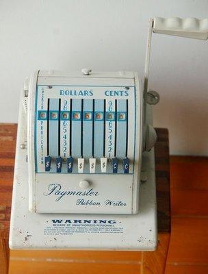 美國芝加哥古董支票收據打印機,優惠價 4600元。