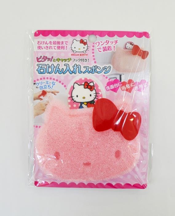 § Color House § 日本 Hello Kitty 造型香皂包 多用途海綿