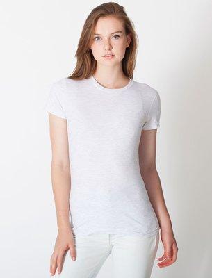 【OhOh】美國 American Apparel 2102 米灰色圓領素色純棉T恤