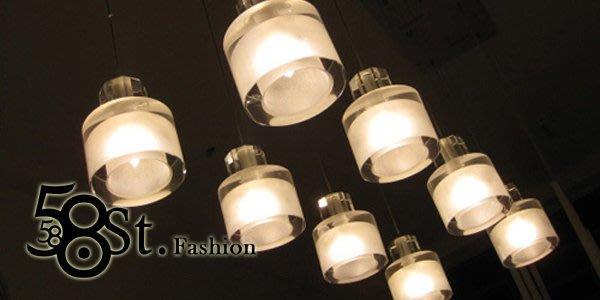 【58街】義大利設計師款式「磨砂水晶吊燈」複刻版。GH-145