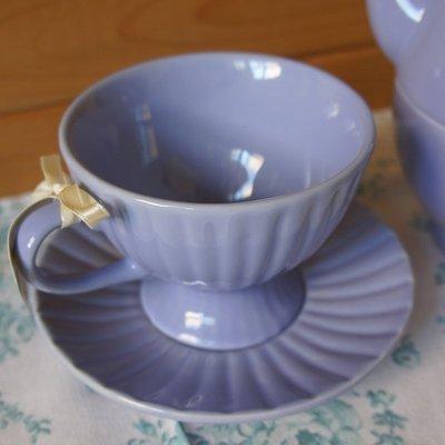 茶具 歐洲雜貨【U-style】英國Afternoon tea杯盤組(紫丁) / 咖啡杯組 生日禮物 餐具
