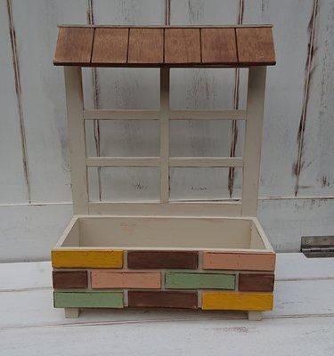 zakka糖果臘腸鄉村雜貨坊      木作類...wiener 屋簷磚片盆栽架(道具架乾燥花不雕花陽台園藝造景裝置藝術