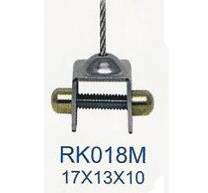 RK018M 掛夾可拆鋼索附一米 標示牌 指標 輕鋼架 天花板 掛畫軌道 壁畫 吊具 掛勾 掛鉤 掛圖器 掛畫器