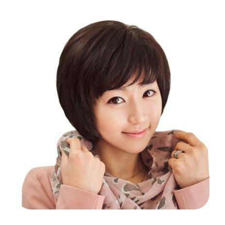 整頂 假髮 真髮絲-鮑伯頭短髮仿真頭皮女假髮2色73vc1[獨家進口][巴黎精品]