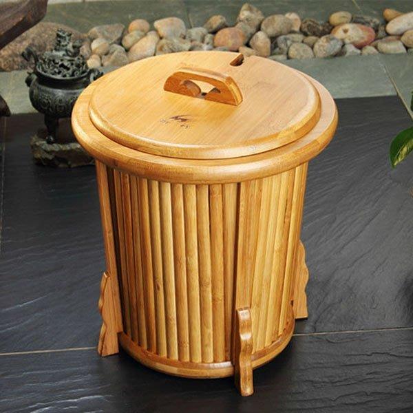 5Cgo【茗道】含稅會員有優惠 39484227413 高檔竹制茶桶茶渣桶茶葉桶垃圾廢水茶水桶功夫茶盤排水桶茶具必配