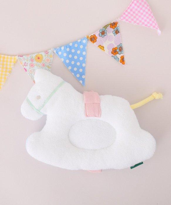 Ariel Wish日本Afternoon Tea限量旋轉木馬嬰兒枕頭餵奶哺乳頭托枕100%純棉彌月禮--日本製-絕版品
