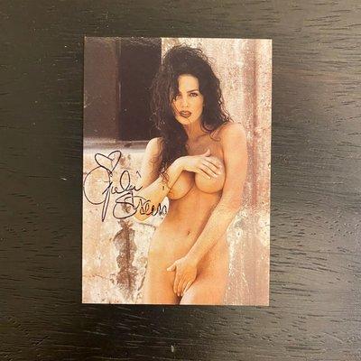 1996 美國女演員 Julie Strain 親筆簽名 收藏卡 卡片