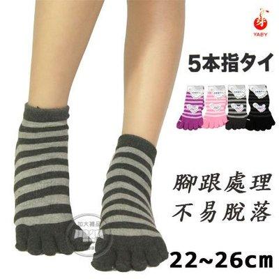 五趾襪  條紋五趾襪  吸汗透氣 台灣製  芽比