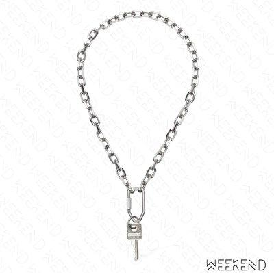 【WEEKEND】 OFF WHITE Key Chain 鑰匙圈 項鍊 銀色 20秋冬