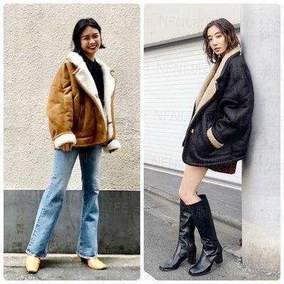 ☆NFNL☆ MOUSSY 冬季新品 IG推薦新款 帥氣個性時髦感羊羔毛保暖外套 MILA OWEN FRAY.ID