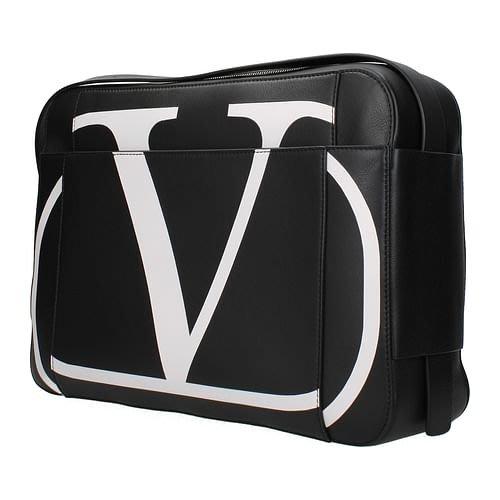 Valentino 男仕 大 V logo 斜背包 側背包 郵差包 公事包 書包 大方包