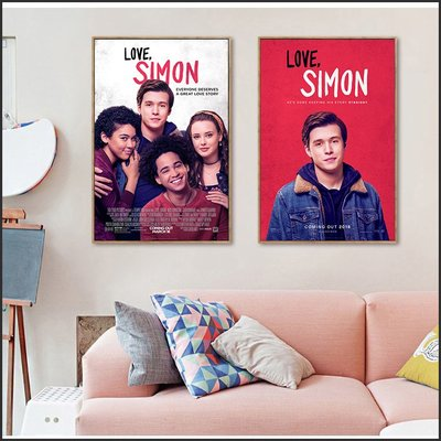 日本製畫布 電影海報 親愛的初戀 Love, Simon 掛畫 無框畫 @Movie PoP 賣場多款海報~