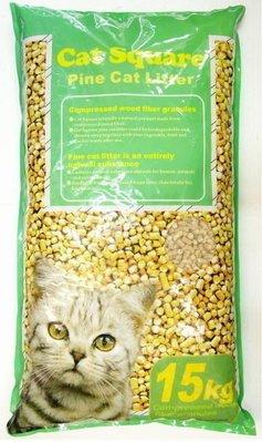 【優比寵物】Cat Square  15公斤裝 松木砂/松樹砂/木屑砂 (鼠.兔.貓.鳥.通用)-<促銷價>