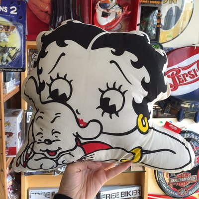 (I LOVE樂多) 日本進口 BETTY BOOP 貝蒂 雙面造型抱枕 靠枕 (D款)