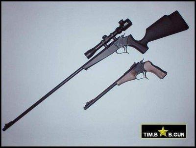 晶予玩具槍~TARGET全金屬中折式頂級30吋專業狙擊版瓦斯槍長槍含戰術表尺測距狙擊鏡(8MM口徑)