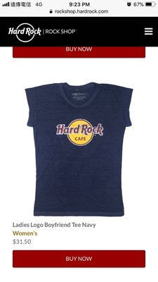 Hard Rock Cafe T-shirt 女生上衣