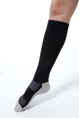 (F04) YOULEG 樂迅 360Den X-Static 銀纖維彈性中統襪 (小腿襪)