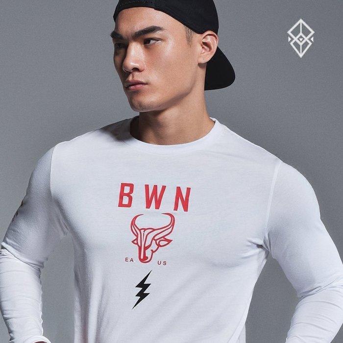 【OTOKO Men's Boutique】固制:有種部隊休閒運動印花長T/白色