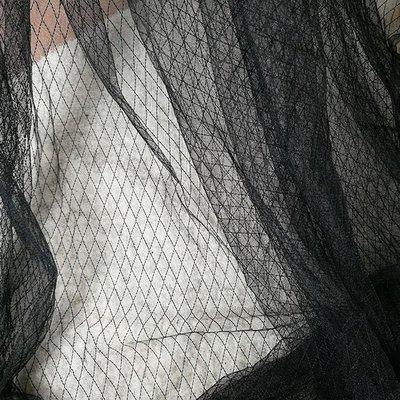 面料布料 衣服布 桌布 藝材料包 拼布 DIY 布藝 手創 布料 掛布夏 蕾絲菱形網紗布料面料透視輕薄柔軟魚網格狀