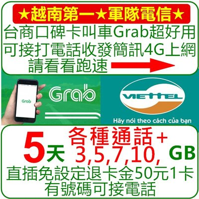 越南 Sim卡 上網卡 ✔免運✔現貨  【電話卡05天.E餐.總量10GB+網外20分鐘+網內每通前10分鐘免費】 越南
