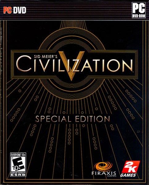 【傳說企業社】PCGAME-Sid Meier s Civilization 5 文明帝國5限量典藏版(英文版)
