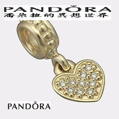 @專櫃 77折 @{{ 潘朵拉 的異想世界 }} 丹麥 PANDORA Pave 鑽石 愛心 14K 750809D