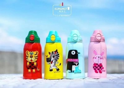 [木馬家]日本購❀ KUMAMOT 熊本士 不鏽鋼保溫瓶 兒童不銹鋼保溫瓶
