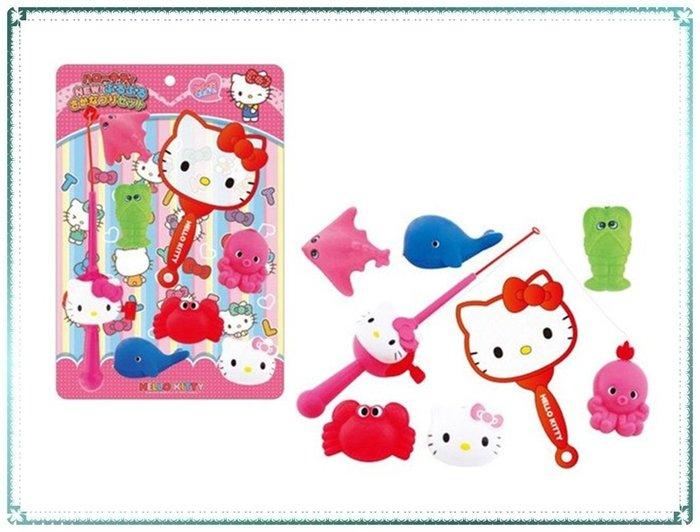 現貨_日本 三麗鷗 Hello Kitty 釣魚 撈魚 玩具組 兒童玩具【Q寶寶】