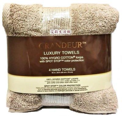 【艾莉生活館】COSTCO GRANDEUR  印度進口純棉毛巾4入(40×76公分)《㊣附發票》