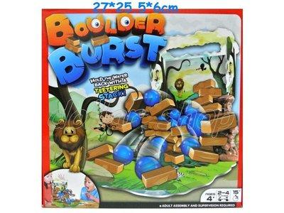 寶貝玩具屋二館☆【盒玩】築牆引水爆裂遊戲---水球磚塊疊疊樂場景平衡遊戲組12