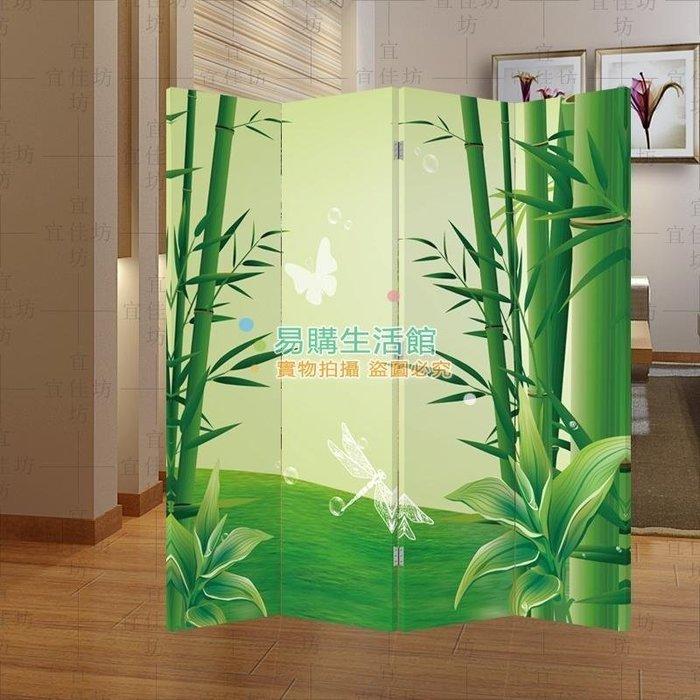 四扇 屏風隔斷時尚玄關門 客廳酒店辦公室 綠竹子152【單扇防水】
