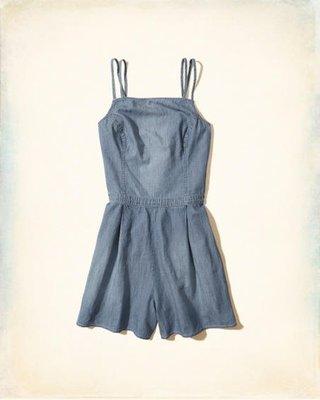 【Hollister】Abercrombie&Fitch(A&F kids)丹寧牛仔連身褲裙/洋裝