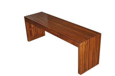 塔森柚木家具-全柚木板凳 CH-2