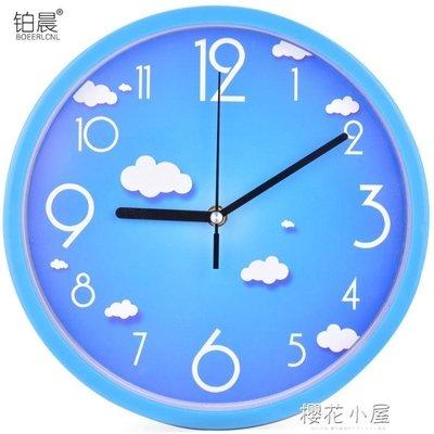 鉑晨靜音掛鐘客廳個性鐘表現代簡約鐘家用石英鐘圓形時鐘創意掛表