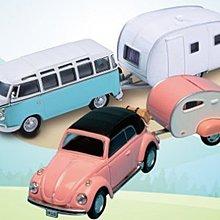 全家 經典福斯露營拖車 全套2款任選 藍或粉 露營拖車