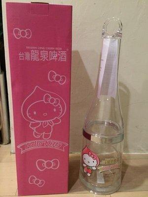 【陽陽小舖】全新@龍泉 限量款HELLO KITTY造型保冰紀念瓶/冷凍液酒桶  一個