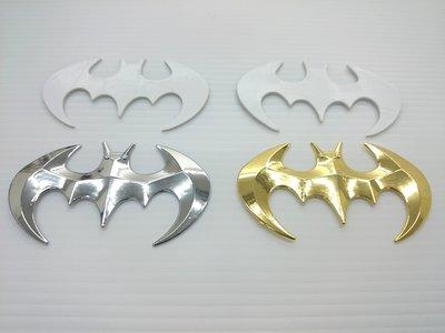 【SPSP】蝙蝠 銀蝙蝠 招福/迎福/金屬車貼/立體車貼/汽車車貼/機車車貼/3D車貼/反光標誌/車身裝飾/尾門裝飾