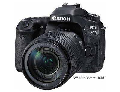 Canon EOS 80D Kit組〔含18-135mm IS USM〕平行輸入 福利品 好客多歐美生活百貨