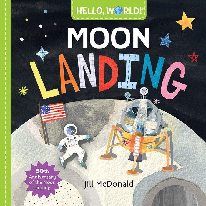 *小貝比的家*HELLO WORLD MOON LANDING /硬頁書/3~6歲/中秋節/自然科學