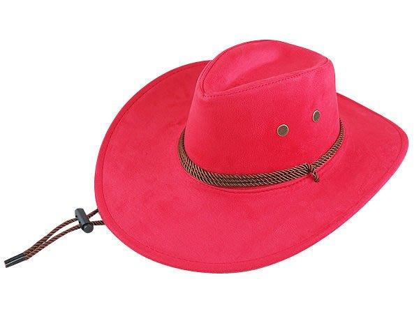 【二鹿帽飾】雞皮 皮繩滾邊 高質感牛仔帽/ 西部帽/ 狩獵帽/表演帽/國小以上表演帽-3色