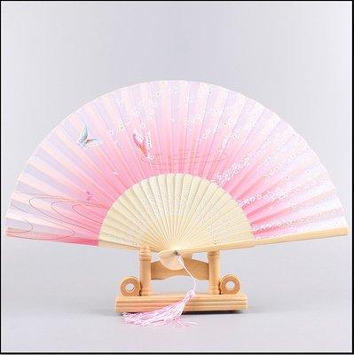 預售款-折疊傘 女士折疊便攜扇子日式絹...