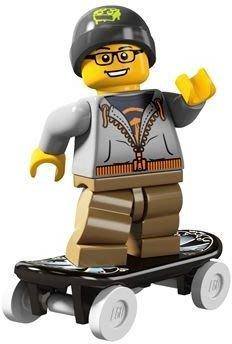 絕版品【LEGO 樂高】玩具 積木/ Minifigures人偶包系列: 4代 8804 單一人偶: 街頭滑板男孩+滑板