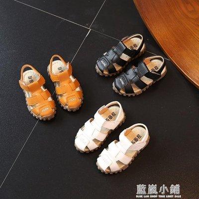 女童涼鞋2018新款韓版夏季寶寶1-3歲防滑軟底豆豆男童包頭沙灘鞋